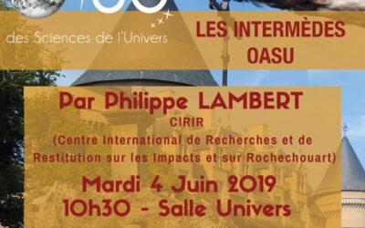 Intermèdes OASU – Juin 2019