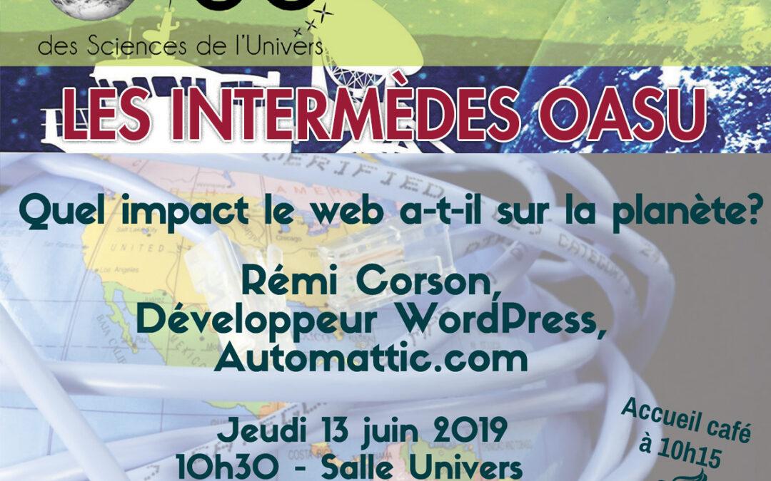 Les Intermèdes OASU – Juin 2019