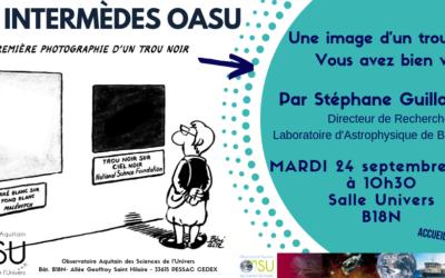 Les Intermèdes OASU – Septembre 2019