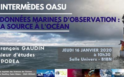 Les «Intermèdes OASU» – 16 Janvier 2020