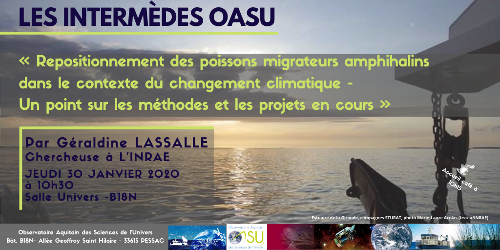 Les intermèdes OASU – 30 Janvier 2020