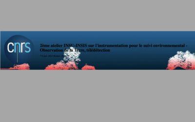 Atelier INSU – INSIS du CNRS : Atelier 3 « Observation de la terre/ télédétection »